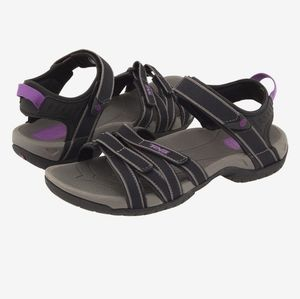 EUC! Teva Tirra Sport Sandals Blk/Purple Gray Sz 7